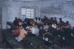 Classmates with our 6<sup>th</sup> sem classteacher Mrs. Deepa