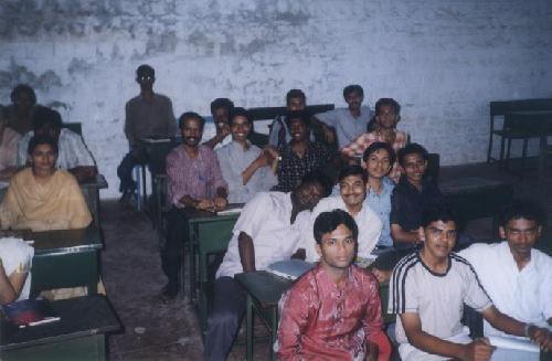 Classmates with our AI teacher Mr. Kanakaraj