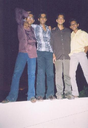Pramod, Vimal, Lijo & Shakeel on the terrace