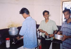 Vimal & Lijo in the kitchen