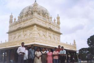 The staff in front of the Mysore Palace