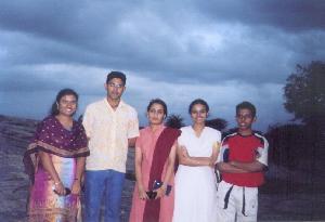 Dhanya, Arjun, SreeVidya, Divya & Shakeel